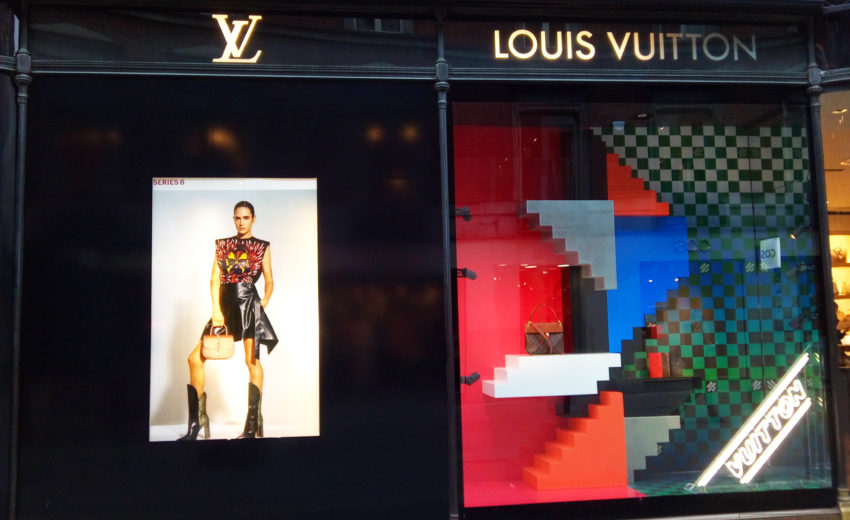 louis vuitton window display. paris is the centre of new louis vuitton, series 6 campaign. window display, 2017continue reading vuitton display l