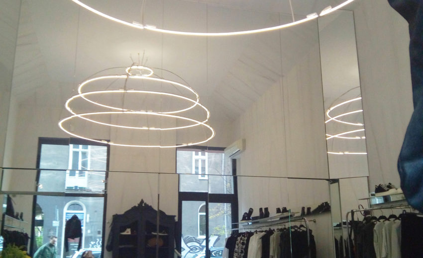 ... Along With Marble Looking Wall Finishes Together Create An Almost  Religious Character To This Space. It Slightly Resembles A Contemporary  Retail Chapel.